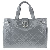 Armani Jeans Large Quilted Patent Handbag